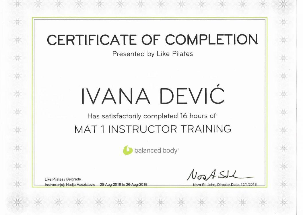 Mat 1 instructor training