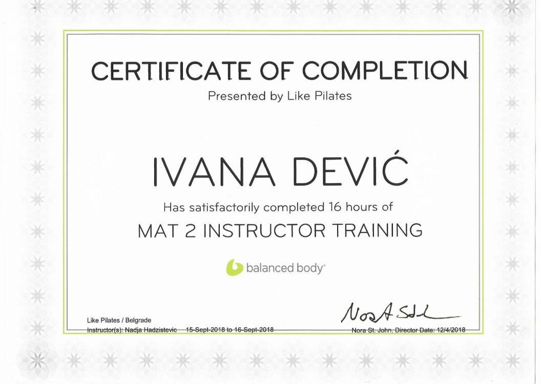 Mat 2 Instructor training
