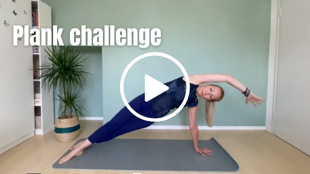 Pilates Instructor in side plank
